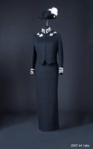 This is a colour photograph of Iona Campagnolo's Lieutenant-Governor uniform.