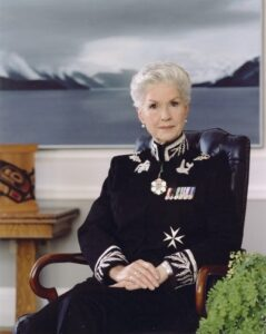 This is a colour photograph of Iona Campagnolo in the Lieutenant-Governor uniform.