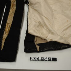 This is a photograph showing stitching on the Lieutenant-Governor uniform.