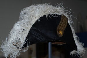 his is a photograph showing the repaired Lieutenant-Governor's hat.