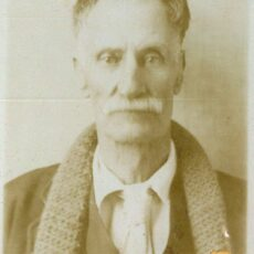 his is a black and white photograph of George Bevilockway, a previously unknown British Columbian, selected by archivist for a research test case.