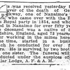 This is an image of George Bevilockway's obituary