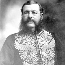 This is a black and white photograph of Thomas McInnes in his Lieutenant-Governor uniform.