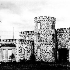 This is a black and white photograph of Cary Castle, the first Government House.