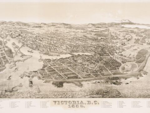 Bird's Eye View Map of Victoria