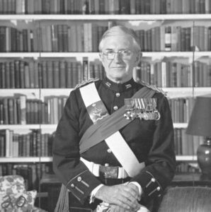 This is a black and white photograph of Henry Bell-Irving in the Lieutenant-Governor uniform.