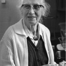 This is a black and white photograph of Dr Josephine Hart.