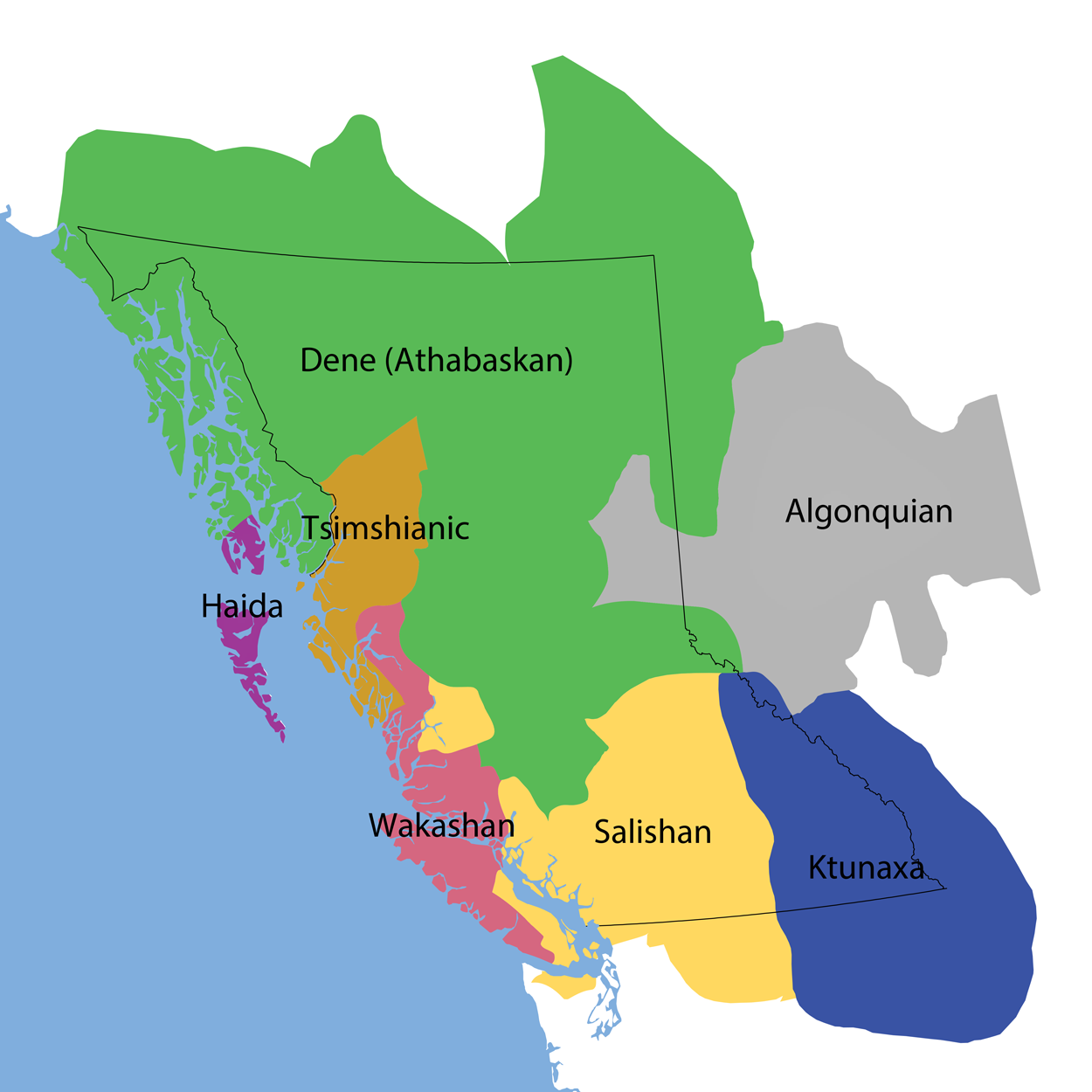 BC First Nations Language Families Map Learning Portal