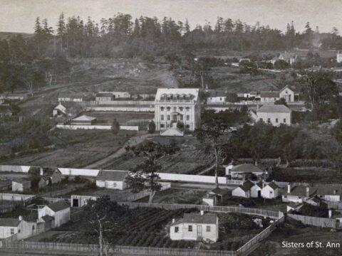St. Ann's Schoolhouse in its original location