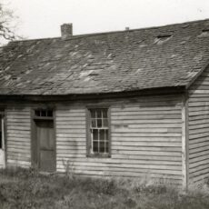 This is a black and white photograph of St Ann's Schoolhouse.