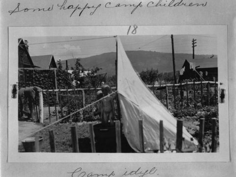 Children at an internment camp, Vernon, B.C.