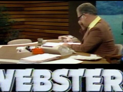 Webster at Desk