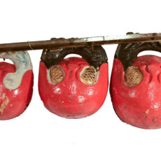 This is an image of Chinese wooden temple bells.