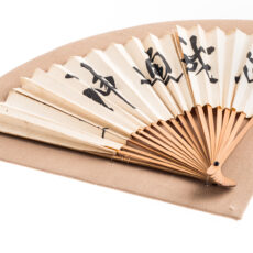 This is an image of a white fan used by Chinese freemasons.