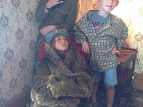 Re-enacting Gold Rush Photography – Jack, Wyatt and Sebastian