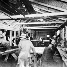 Chinese workers canning salmon, ca. 1900.