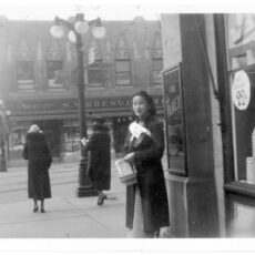 Victoria Chinese Women's Committee fundraising for war victims in China during the Sino-Japanese War, ca. 1938..
