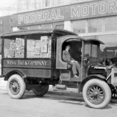 Wing Tai and Co. delivery truck, Vancouver, ca. 1920.