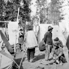 Canadian Pacific Railway Chinese labour camp at Kamloops, ca. 1886.