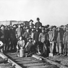 Chinese workers on the Canadian Pacific Railway, ca. 1884.