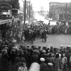 Victory Loan promotion in Victoria's Chinatown, ca. 1944.