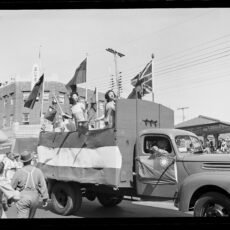 Chinese float for V-J (Victory over Japan) Day, Victoria, ca. 1945.