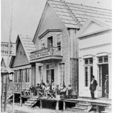 Street scene in Barkerville.