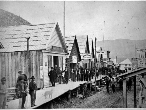 Street Scene in Barkerville. 1868.  Fredrick Dally, Photographer.