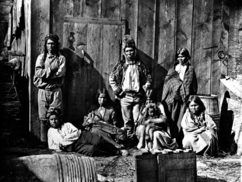 First Nations near Lytton, ca. 1870. Frederick Dally, photographer