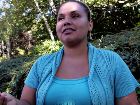 Watch archival film of students at residential schools, language champion Renee Sampson and Aboriginal leader Sophie Pierre.