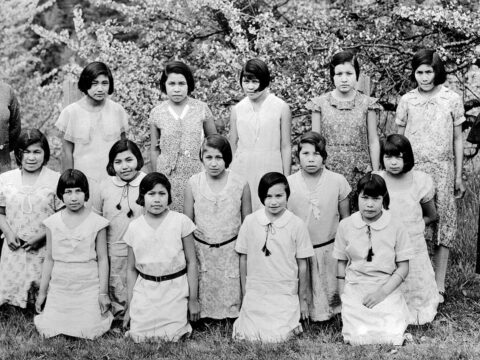 Alberni Indian Residential School, junior girls' class.