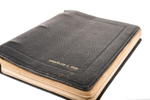 Cover of a journal belonging to filmmaker Stanley Fox.