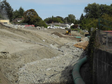 Bowker Creek Channel Construction