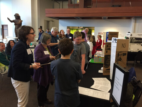 Listen to students describe their Heritage Fair projects.