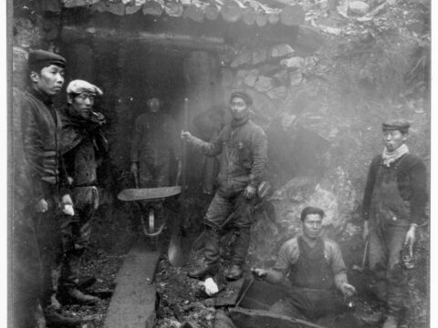 Miners at the Awaya Ikeda Mine, Haida Gwaii