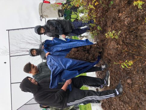 Students Helping to Take Care of the Riparian Zone