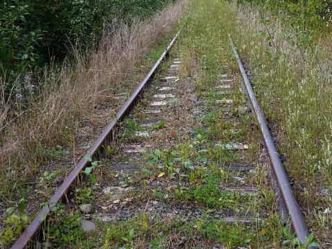 Abandoned BC Rail tracks