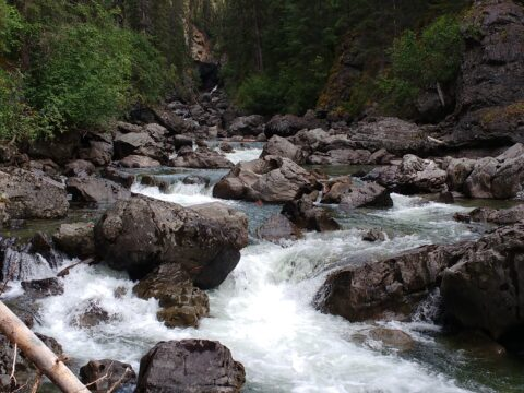 33Birdflat Creek boulders and rapids