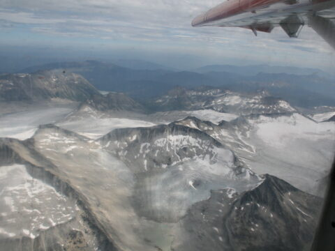 Glaciers from Plane