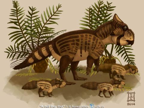 Leptoceratopsid Dinosaur Illustration