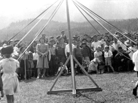Kindergarten Maypole in Kaslo