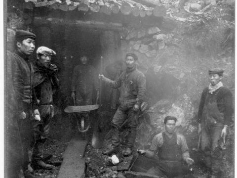 Miners at Ikeda Mine