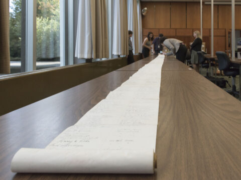 Look closer at a lengthy scroll petition from 1930 which was intended to ban Japanese Canadians and others from owning land or resources in BC.