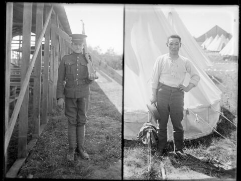 Soldiers at Sidney Camp